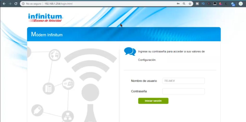 usuario y contraseña telmex