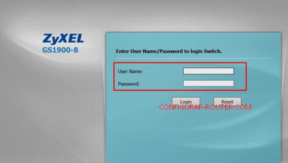 entrar router zyxel