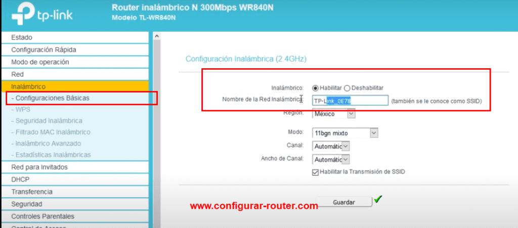 cambiar nombre wifi tp-link