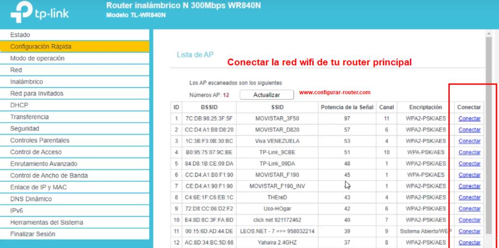 lista de señales wifi to-link