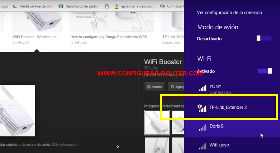 conectarse a la señal del repetidor wifi