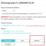 seleccionar firmware tp-link